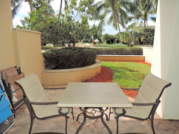 Private Patio with access to Pool/Beach
